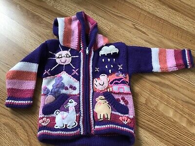 f561e2405 HAND KNITTED ALPACA Wool Children Sweaters with 3D designs -  34.98 ...