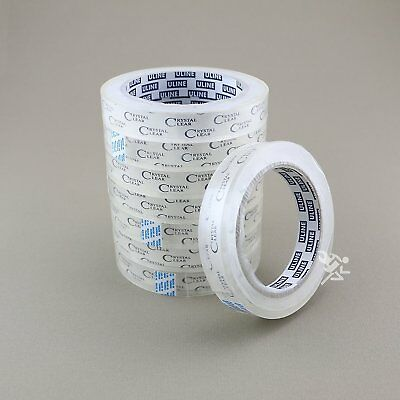 """8 - 3/4"""" x 2,592"""" (72 yds) Crystal Clear Transparent Tape, 3"""" Core, S-3274"""