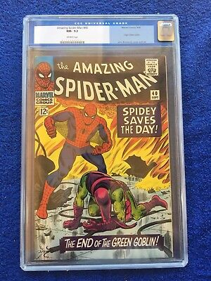 Amazing Spider-Man #40 CGC 9.2 NM- Marvel 1966 Green Goblin