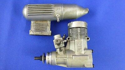 Model Airplane Vintage Engines Os Max Sf .40 R/c Glow With Os 873 Muffler Japan