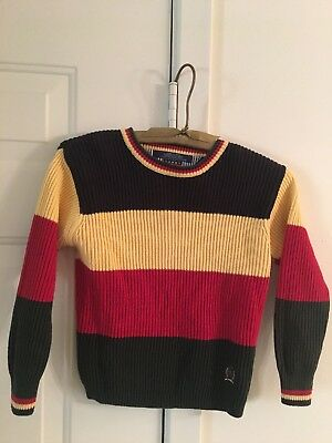 Vintage Tommy Hilfiger Ribbed Color Blocked Sweater Size 6 Red/yellow/black