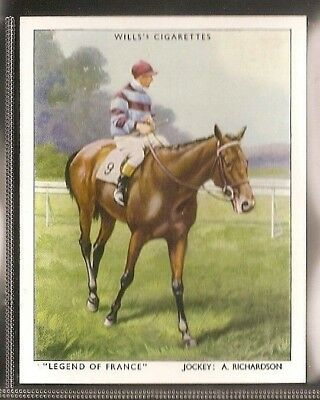 Wills-Racehorses & Jockeys Horse Racing-#16- Legend Of France