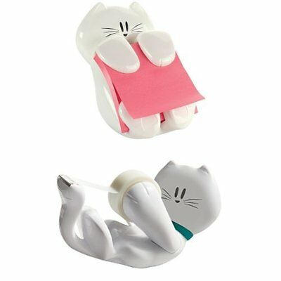 Cat Pack Post-it Cat Figure Pop-up Note Dispenser and Scotch Kitty Dispenser