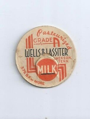 """Wells & Lassiter""   Jackson, Tenn.  milk bottle cap."