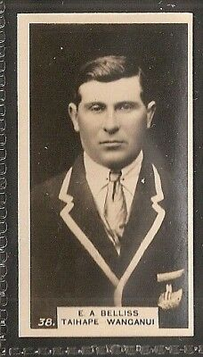 Wills Nz Issue-New Zealand Football Ers Rugby-#38- Taihape Wanganui - Belliss