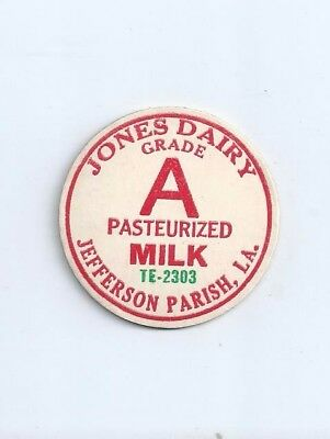 """Jones Dairy""    Jefferson Parish, La.  milk bottle cap."