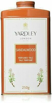 Yardley London Perfumed Talc Sandalwood Talcum Powder -250 g- US Seller