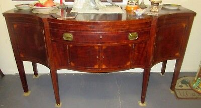 ANTIQUE NEW YORK FEDERAL INLAID MAHOGANY SIDEBOARD CIRCA 1790's MONUMENTAL PIECE