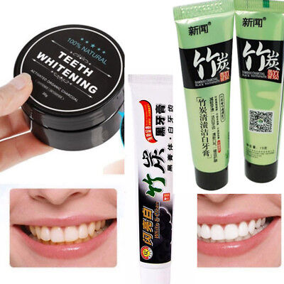3 styles Bamboo Charcoal Black Toothpaste Teeth Tooth Paste Whitening Dentifrice