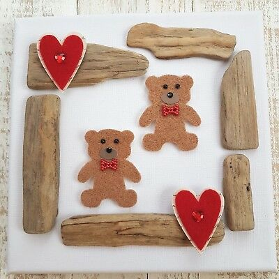 Childrens Baby Boys Girls Babies Nursery Teddy Bear Heart Canvas Picture Gift