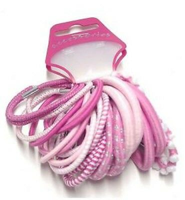 pack of 24 thick pink tone elastics hair ties –hair accessories