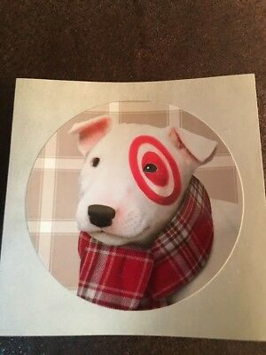 Lot Of 10 Target Dog Bullseye Christmas Stickers Half Dollar Size For Wrapping