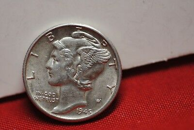 1945 Mercury Dime Brilliant Uncirculated