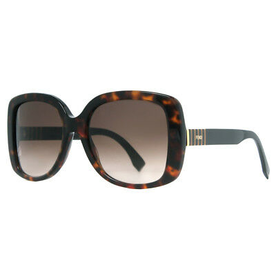 a6c4d68a57d Fendi FF 0014 S 7TO HA Pequin Brown Havana Over-Sized Square