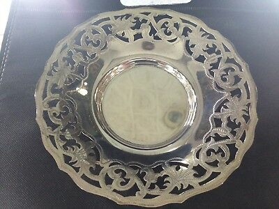 Handmade Solid Silver Plate Hammered  Silver s990 (104 gm)