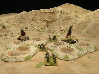 Desert Crater Bases for Flames of War (Painted and Flocked)