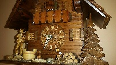 STUNNING 8 DAY CUCKOO CLOCK   / Fully  Servised /Perfect Working Order .