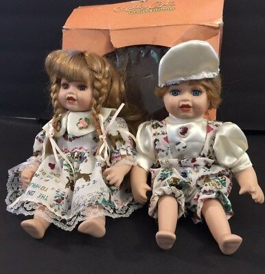 """Vintage Collectible Dolls Limited Edition Ashley Belle Jack And Jill W/ Coa 10""""h"""