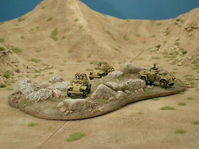 Desert Rock Outcrop for Flames of War (Painted and Flocked)