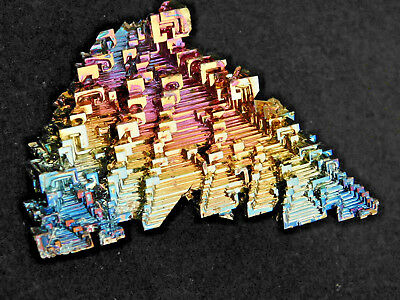 A Blue and Gold Colored BISMUTH Crystal From Germany! 80.3gr