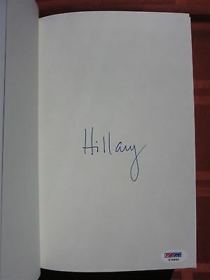 Hillary Rodham Clinton signed Book Hard Choices PSA/DNA