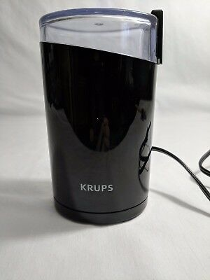 Krups F203 electric spice coffee grinder 200 W motor stainless steel blade black