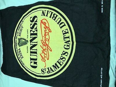 Vintage Unused Guinness Irish Linen Towel made and purchased in 1989 in Ireland