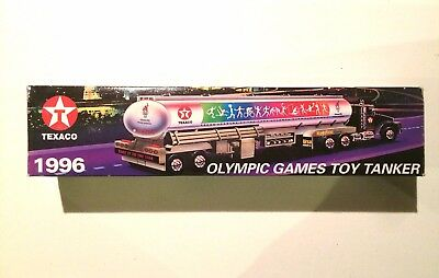 1996 TEXACO OLYMPIC GAMES TOY TANKER - *Limited Edition*