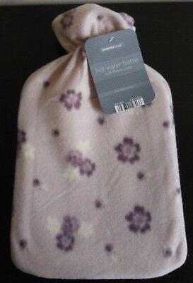 Cosy Hot Water Bottle Fleece Cover Flowers Country Club