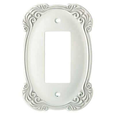Liberty Arboresque Wall Switch Plate Cover Single Rocker Antique White Metal NEW