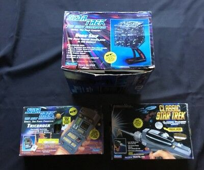 Classic Star Trek The Next Generation Lot Phaser TriCorder Borg Ship Collectors