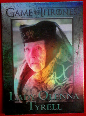 GAME OF THRONES - LADY OLENNA TYRELL - Season 4 - FOIL PARALLEL Card #72