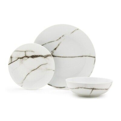 Salt & Pepper 12 Piece Marble Dinner Set Brand New