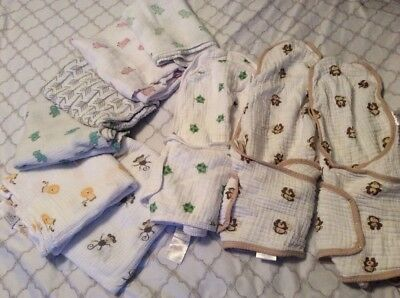 EUC aden and anais swaddle Muslin blankets lot 9 Pieces