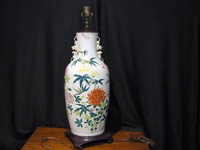 """LARGE Antique CHINESE PORCELAIN VASE LAMP - 29"""" TALL"""