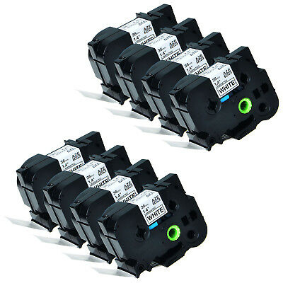 8 PK Black on White TZ261 TZe261 Label Tape for Brother P-Touch 3600 9700 36mm