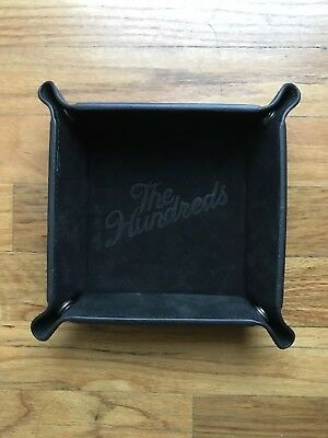 The Hundreds Tray Suede Leather Black Finish