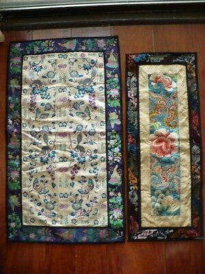 2 pcs Old Chinese Embroidery
