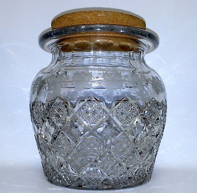 Beautiful Large H.p. Sinclaire Holly Pattern Humidor Or Large Apothecary Jar