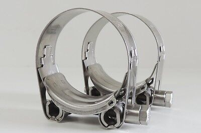 NEW Qty 2 Hose Clamp Fully Stainless Steel 40 - 43 mm ID T Bolt SS Norma