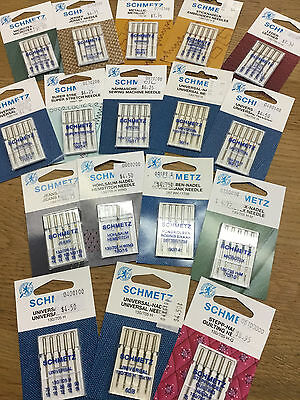 Schmetz Sewing Machine Needles - Quilting- jeans-  microtex- wing-and more