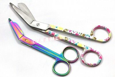 "2 Medical Surgical Dressing Bandage Lister Scissors 7.25""+5.5"" Nurse Instruments"