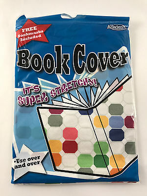 It's Academic Stretchable Fabric School Book Cover Up to 8.5in x 11in Dots