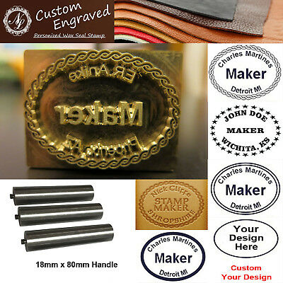 Custom Makers Stamp Logo Leather Embossing Branding Iron Stamp / Steel Handle