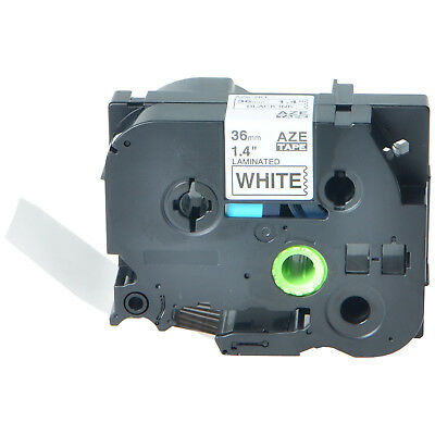 Black on White TZ261 TZe261 Label Tape for Brother P-Touch PT-530 550 3600 36mm