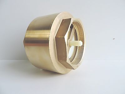 "NEW Check Valve Spring Brass 32mm 1 1/4"" BSP QUALITY Non Return Irrigation"