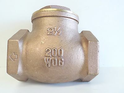 "NEW Check Valve Swing Brass 65mm 2 1/2"" BSP Non Return Irrigation Pump"