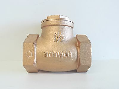 "NEW Check Valve Swing Brass 40mm 1 1/2"" BSP Non Return Irrigation Pump 40 mm"