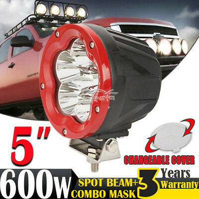 5inch 600W CREE LED Driving Light Work Lamp Spotlight Offroad SPOT Round UTE HID