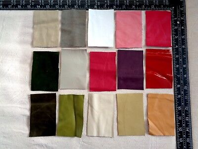 Brand New 15 piece GENUINE LEATHER SCRAPS, OFF CUTS for CRAFTS & HOBBIES -Lot A4